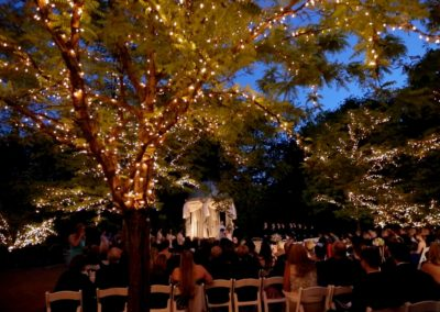 outdoor wedding reception lights
